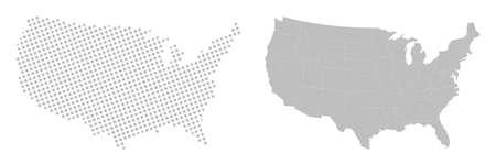 States of America territory. North America. 矢量图像