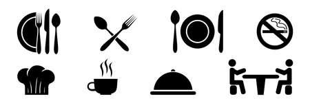 Cutlery set. Fork, spoon, knife. Realistic tableware. Kitchen utensil. Flat style.