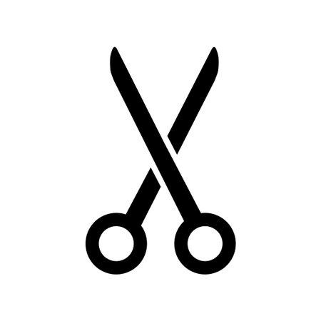Scissors symbol isolated on white background. Vector illustration. EPS 10 矢量图像