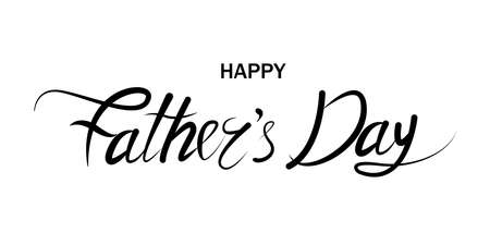 Father's Day holiday. Greeting card. Vector illustration. EPS 10 Vettoriali