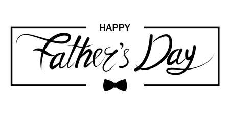 Father's Day holiday. Greeting card. Vector illustration.
