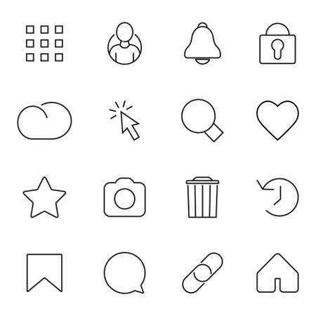 Collection of Business symbols. Vector illustration.