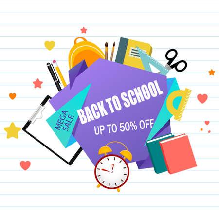 Back to school. Education. Children's hands. 1st September. Autumn. Calendar. Vector illustration. EPS 10 Vettoriali
