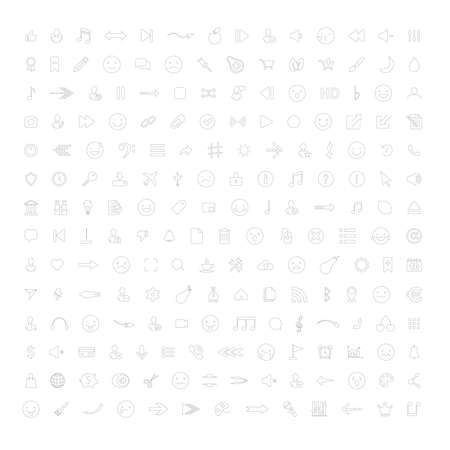 Collection of Business, arrow, multimedia symbols. Vector illustration. EPS 10 Vettoriali