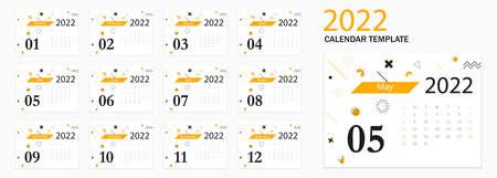 Calendar 2022. Tear-off calendar. Personal organizer. White background. Vector illustration. EPS 10