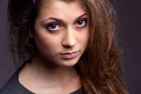 An image of a young girl with big brown eyes Stock Photo - 13069296