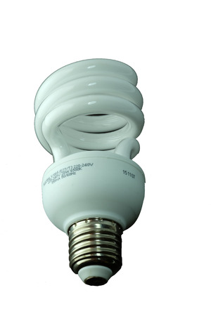 economical: Energy saving light bulbs Stock Photo