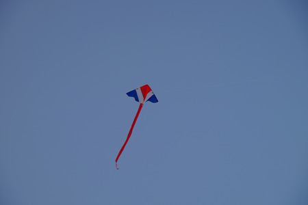 blithe: colorful kite on blue sky