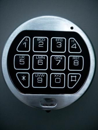 teclado num�rico: clave seguro Foto de archivo