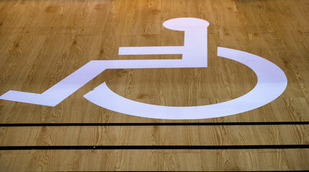 inability: Disabled toilet Stock Photo