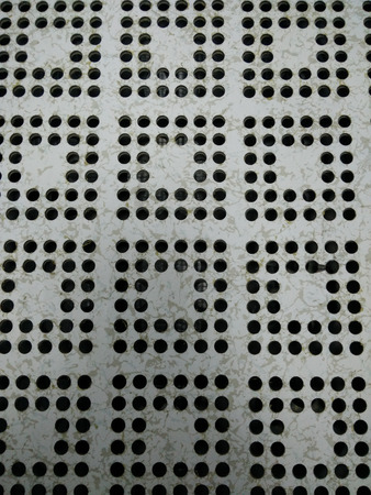 perforated: Perforated Airflow Panel Stock Photo