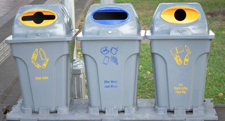 segregation: trash bin for waste segregation Stock Photo