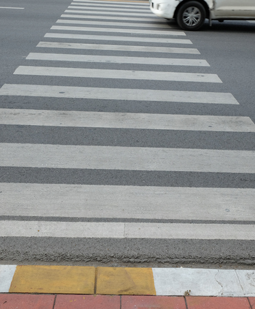 pedestrian crossing: for pedestrian crossing are painted on the street