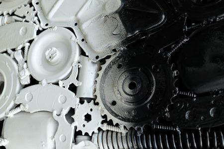 machine teeth: Large cog wheels & background