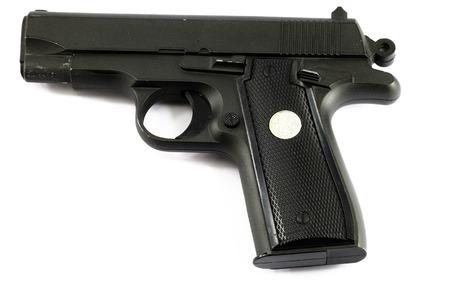 pellet gun: pneumatic gun on a white background