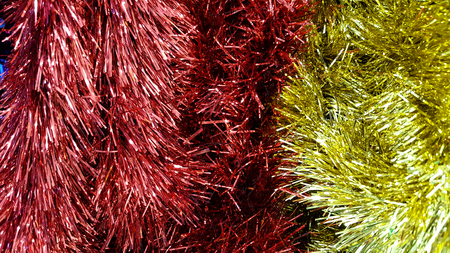 tinsel background for Christmas, happy new year