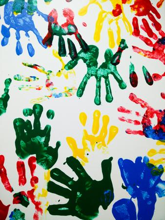 Print of hand of child