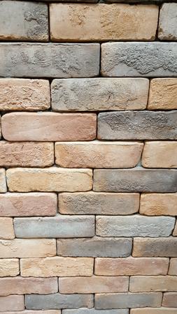 stapled: seamless bricks of an historic building QTAB Minar in Delhi