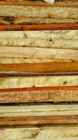 Carpentry. Wood planks Stock Photo