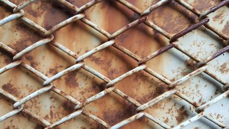 Background of rusty metal mesh