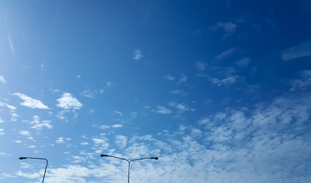 Looking up at Blue sky with cloudy