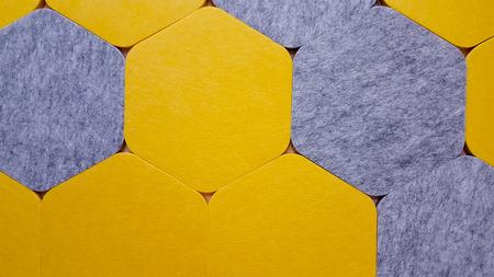 seamless texture of yellow and white blocked tartan cloth
