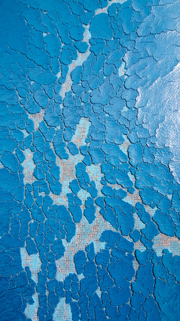 Blue leather texture background with cracks Stock Photo