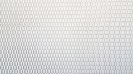 Steel net on white background
