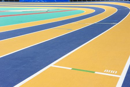 An international indoor athletics track in Doha, Qatar.