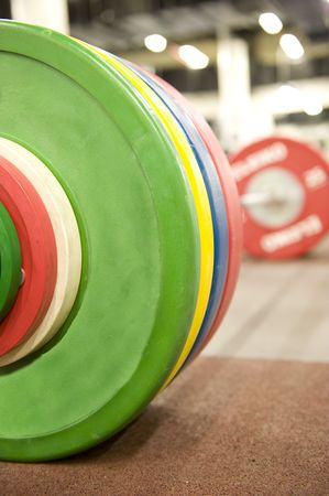 Gym or gymnasium equipment in a world-class facility suitable for athletes training for international events.