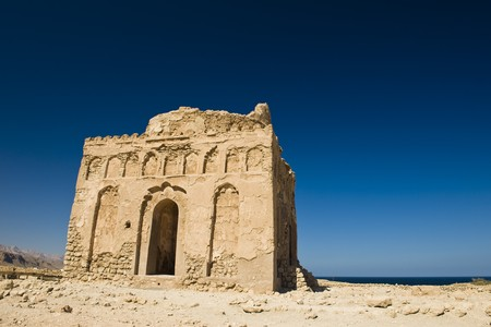 thriving: The ancient 13th century ruins of the mosque built by Bibi Maryam, located in the once thriving merchant city of Qalhat in Oman.