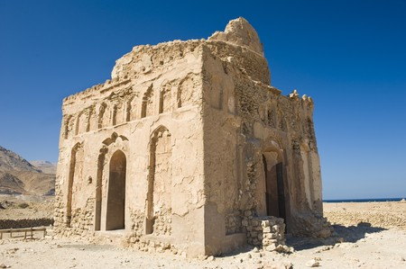 13th: The ancient 13th century ruins of the mosque built by Bibi Maryam, located in the once thriving merchant city of Qalhat in Oman.