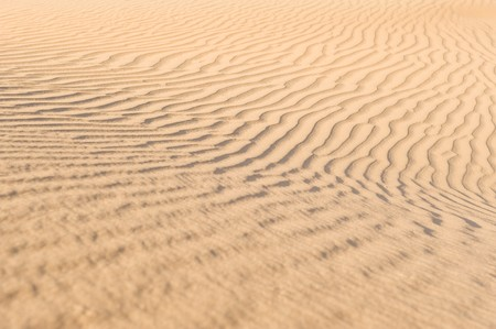shifting: Wind-blown patterns in the desert sand on some shifting dunes. Stock Photo