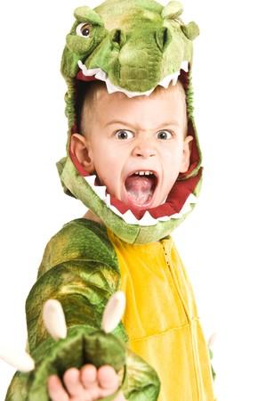 악어: Kids in Halloween costumes playing trick or treat and asking for sweets. 스톡 사진