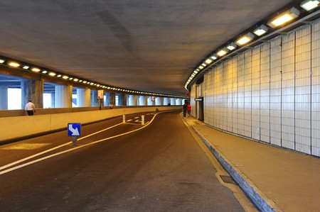 monte: Tunnel that is part of the racetrack in Monte Carlo.
