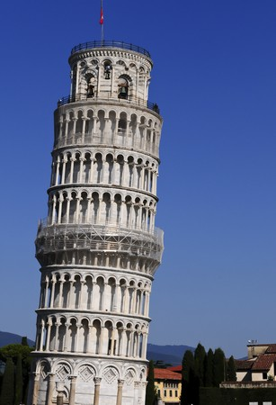 Leaning tower of Pisa in Italy against a clear blue sky. Stock Photo - 7717283