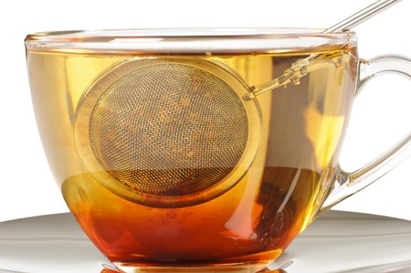 infusing: Rooibos or redbush tea infusing in a cup