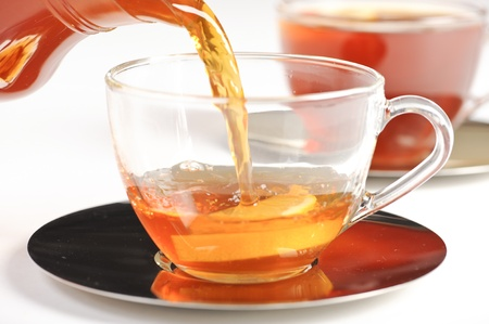 rooibos tea: Antioxidant rich healthy herbal tea from the Western Cape region in South Africa. Stock Photo