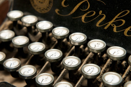 manual work: A unique Perkeo folding typewriter manufactured in 1912 - a very rare sample in excellent condition.