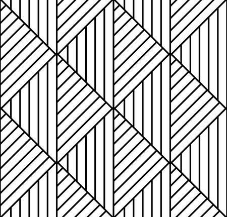 op art: Seamless geometric pattern in op art design. Vector art.