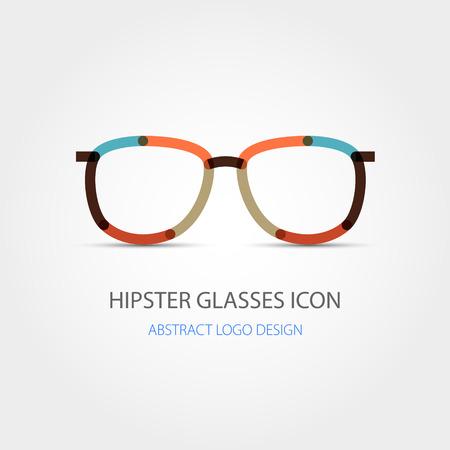 wayfarer: Hipster glasses icon. Abstract design. Vector