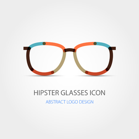 Hipster glasses icon. Abstract design. Vector