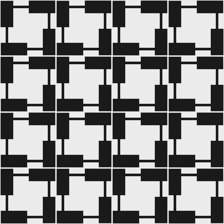op art: Seamless geometric pattern in op art design. Vector illustration.