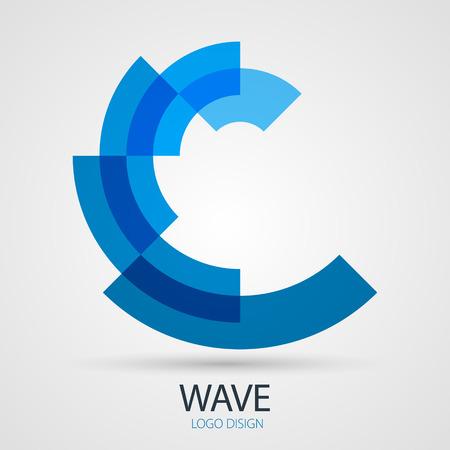 波ベクトルのデザイン ビジネス シンボル コンセプト