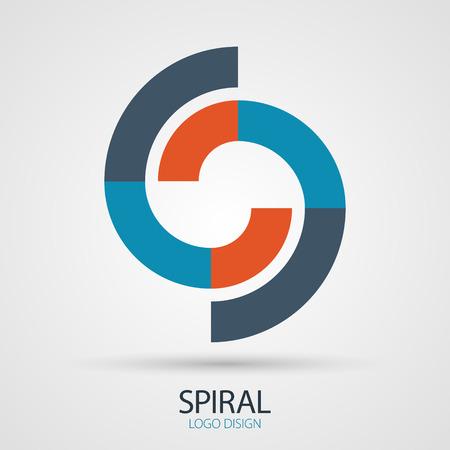 spiral vector: Vector spiral design, business symbol concept Illustration