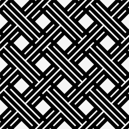 線の菱形と幾何学的なシームレス パターン。