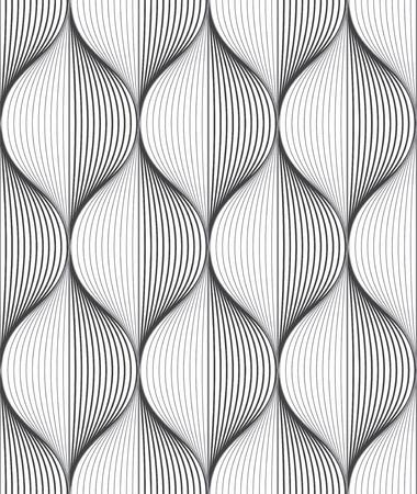 シームレスなリップル パターン。トレンディなベクトルのテクスチャです。斜め方向とスタイリッシュな背景