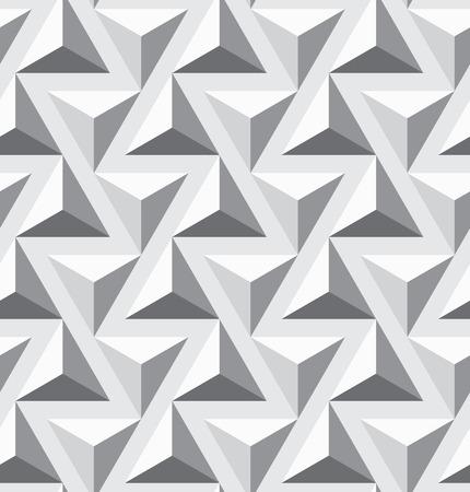 シームレスな幾何学的なオプアートのテクスチャです。三角形パターン。ベクター アートです。