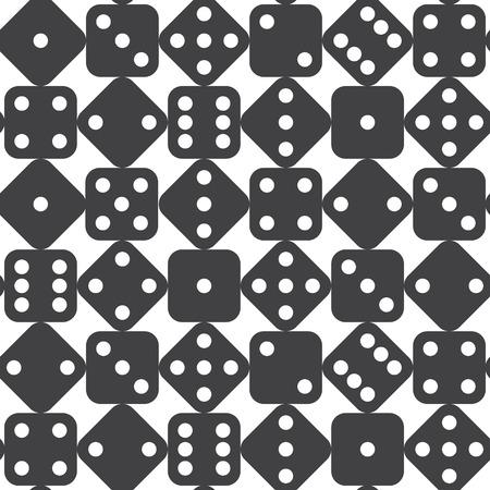 シームレスなサイコロのパターン。ベクトル図