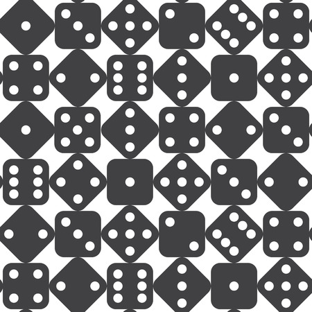 Seamless dice pattern. Vector illustration Vector